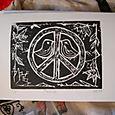Peace Linocut